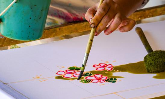 Pittura su Tessuto - Workshop a San Benedetto del Tronto - Astrolabio Associazione